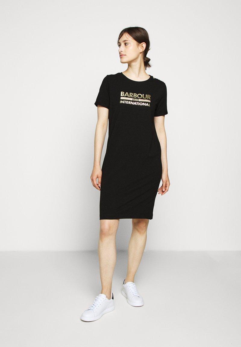 Barbour International - THUNDERBOLT DRESS - Jersey dress - black