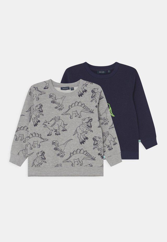 KIDS BOYS 2 PACK - Sweater - nacht/nebel mel
