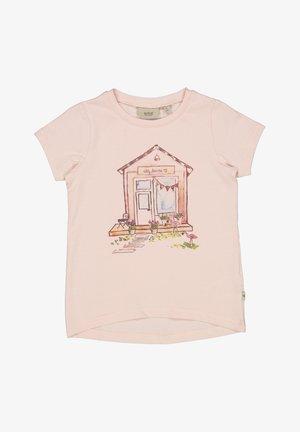 Print T-shirt - powder