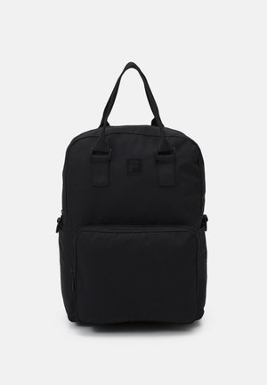 COATED CONVERTIBLE MID BACKPACK UNISEX - Mochila - black