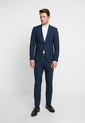 CHECKED SUIT - Traje - blue