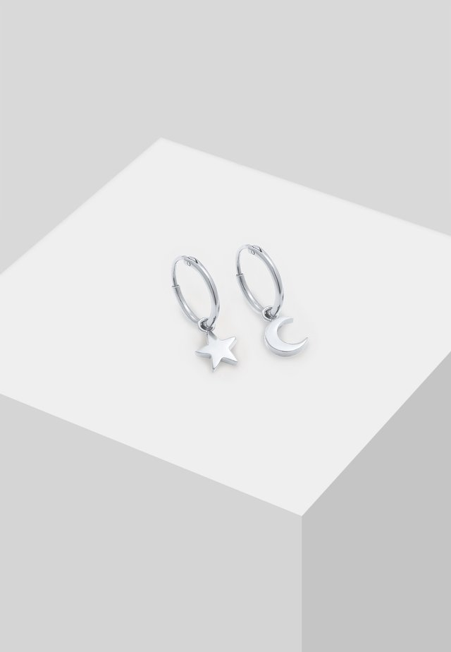 STERN MOND ASTRO LOOK - Earrings - silver-coloured