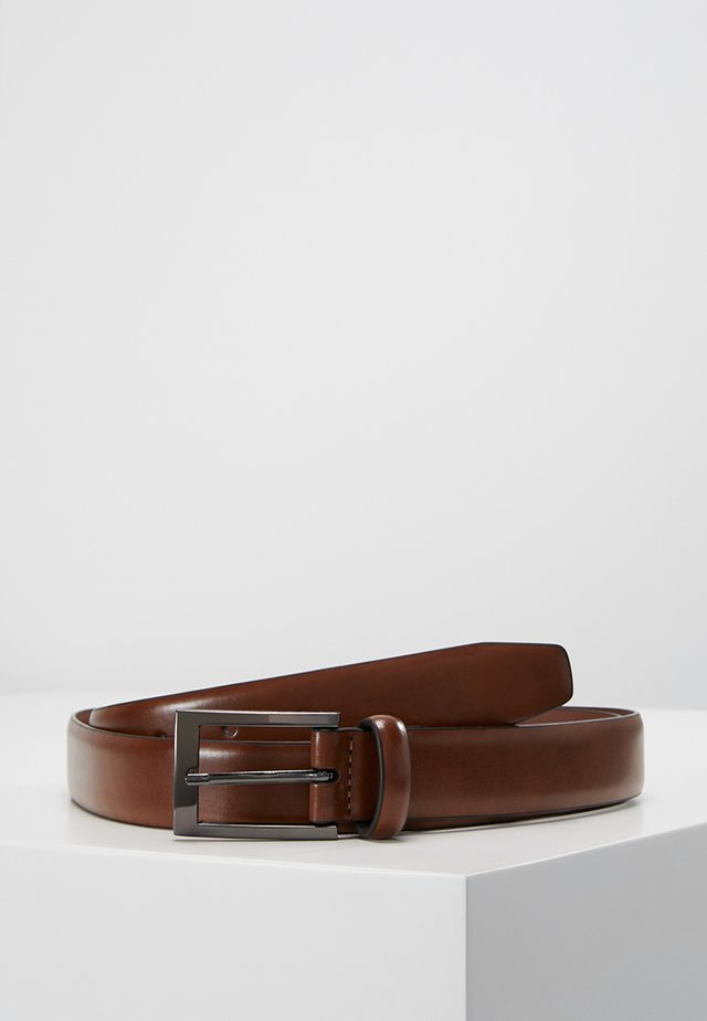 TEXT BUCKLE - Belte - brown