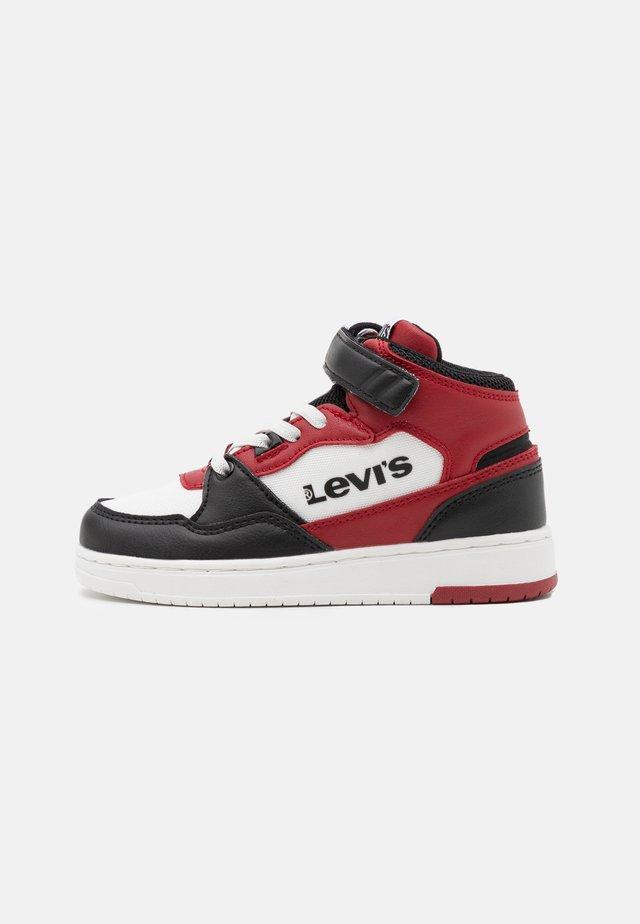 BLOCK MID UNISEX - Sneakers hoog - black/red