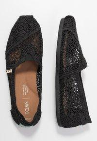 TOMS - ALPARGATA - Scarpe senza lacci - black - 3