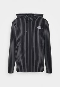 SIKSILK - DUAL STRIPE AGILITY ZIP THROUGH HOODIE - Zip-up hoodie - black/white - 3