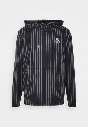 DUAL STRIPE AGILITY ZIP THROUGH HOODIE - Mikina na zip - black/white