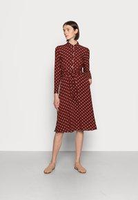King Louie - SHEEVA DRESS PABLO - Shirt dress - merlot brown - 0