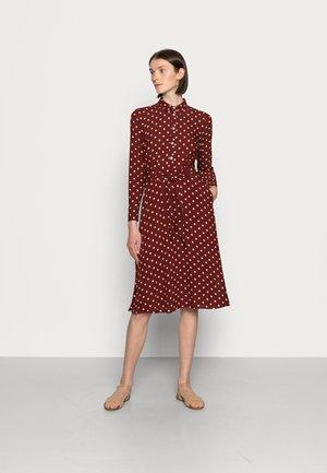 SHEEVA DRESS PABLO - Shirt dress - merlot brown