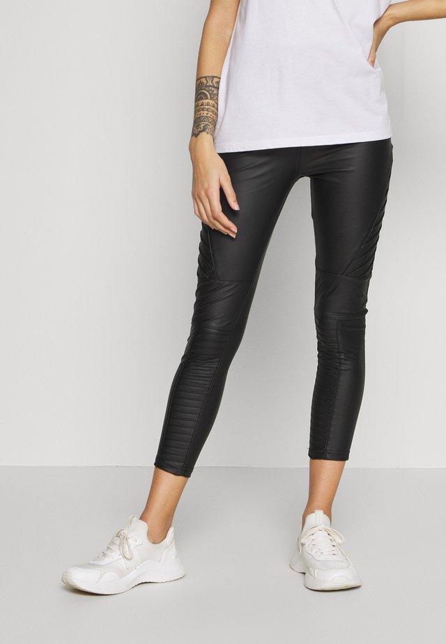 BIKER LEGGING - Leggings - Trousers - black