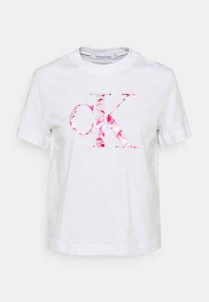 BONDED FILLED TEE - Print T-shirt - bright white/marble