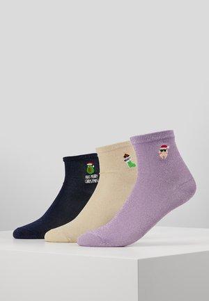 REINDEER XMAS TURKEY NAUGHTY SOCKS 3 PACK - Socken - multi-coloured