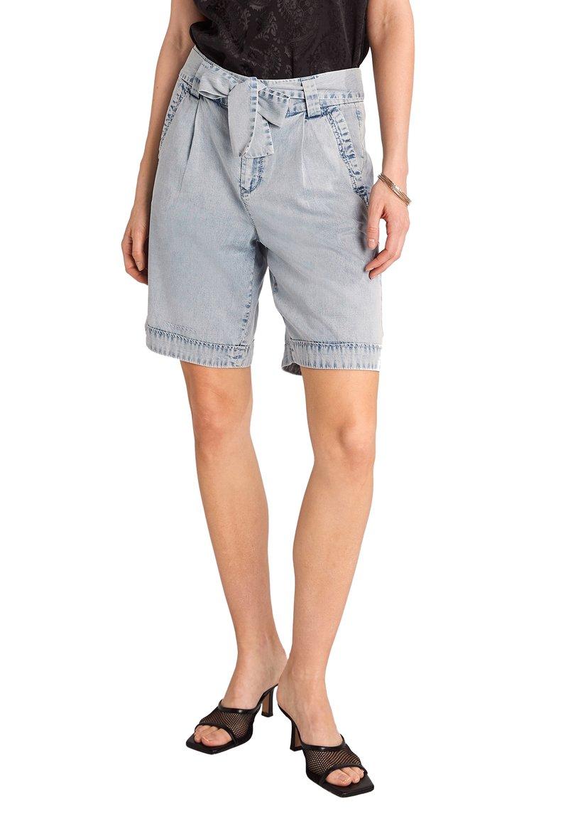 comma - Denim shorts - light blue