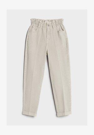 MIT ELASTISCHEM BUND  - Straight leg jeans - beige