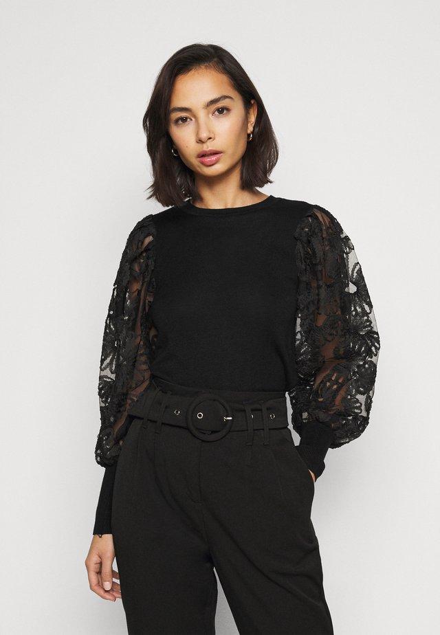 ONLFLORA  - Sweter - black