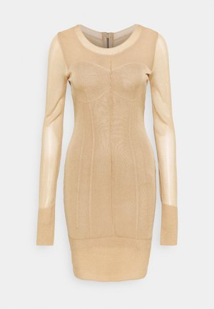 GOING OUT DRESS - Pouzdrové šaty - taupe