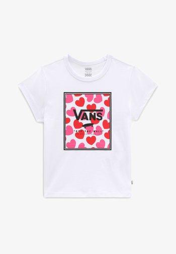 GR BOXED HEARTS - Print T-shirt - white