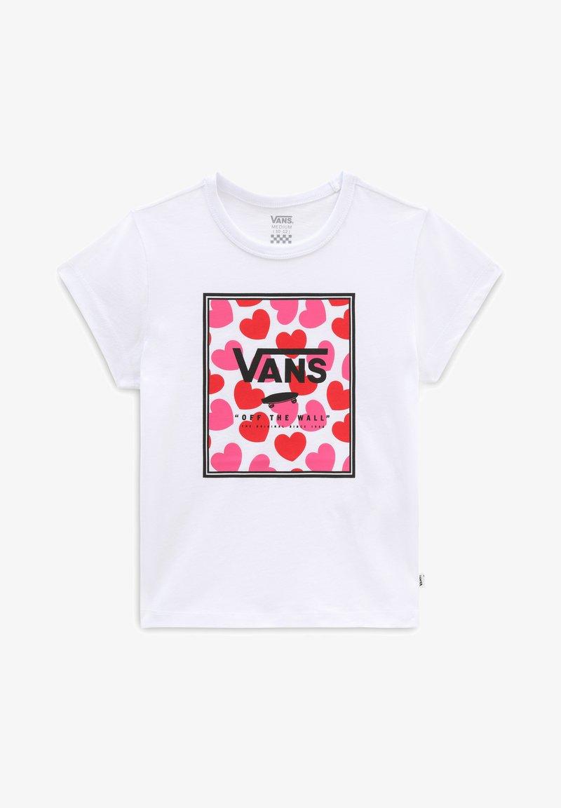 Vans - GR BOXED HEARTS - Print T-shirt - white