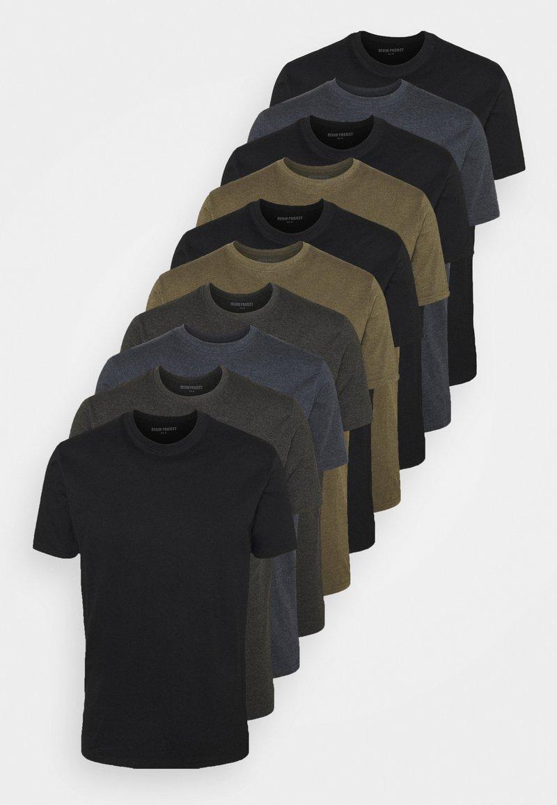 Denim Project - 10 PACK  - T-shirt - bas - dark green
