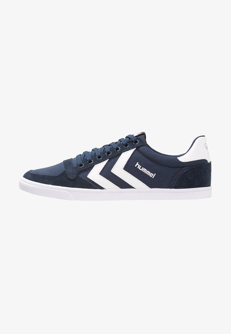 Hummel - SLIMMER STADIL - Sneakers laag - dress blue/white