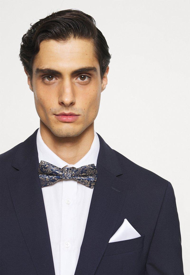 Jack & Jones - JACSHINNY NECKTIE SET - Cravatta - dark blue/gold-coloured