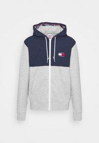 CONTRAST ZIP HOODIE - Zip-up sweatshirt - grey