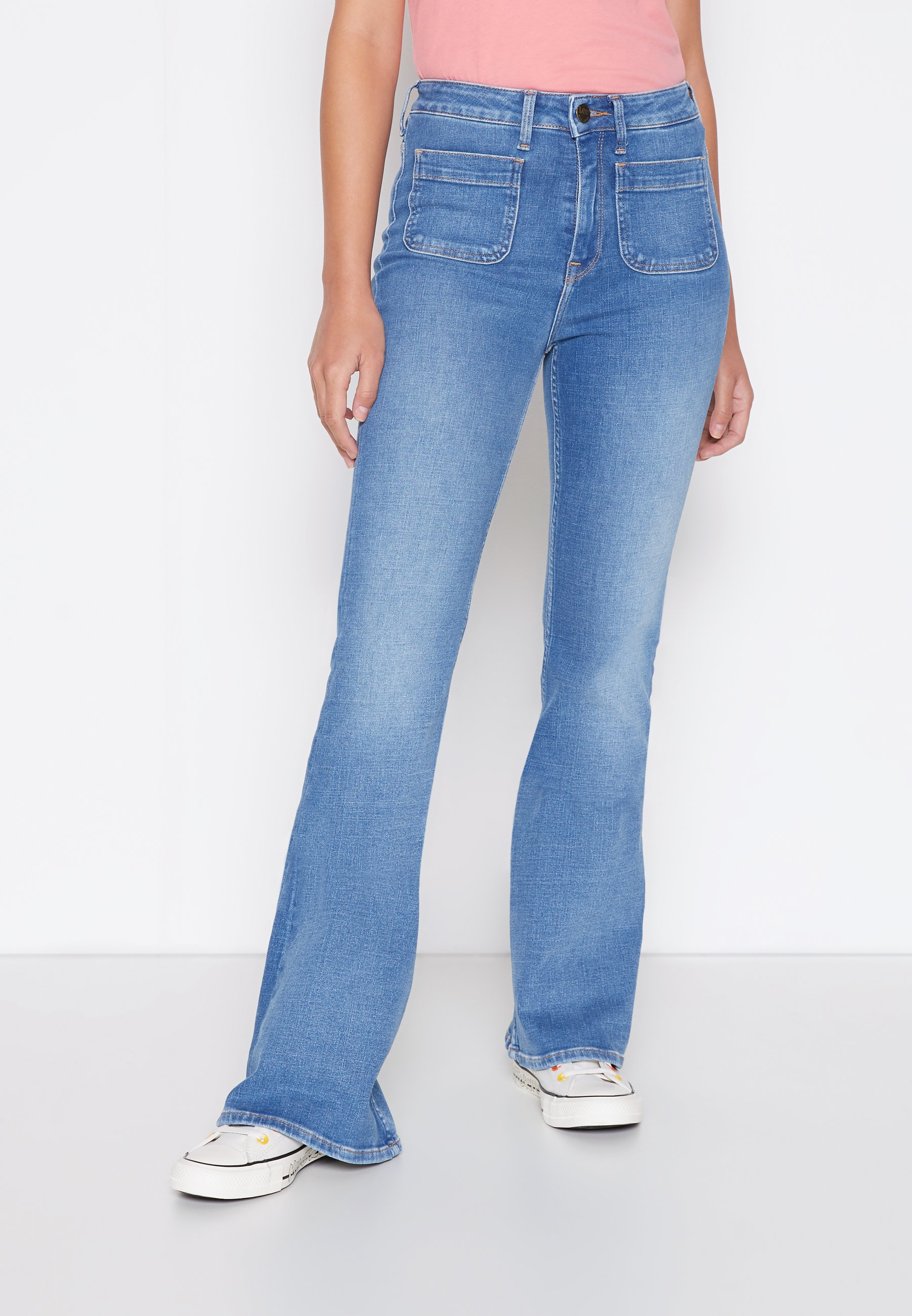 Women BREESE PATCH POCKET - Flared Jeans