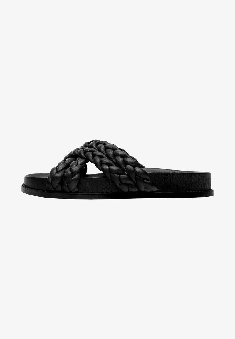 Uterqüe - Platform sandals - black