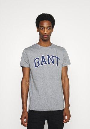 ARCH OUTLINE - Print T-shirt - grey melange