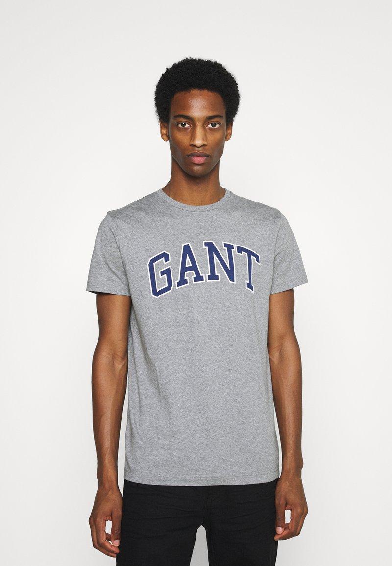 GANT - ARCH OUTLINE - Print T-shirt - grey melange