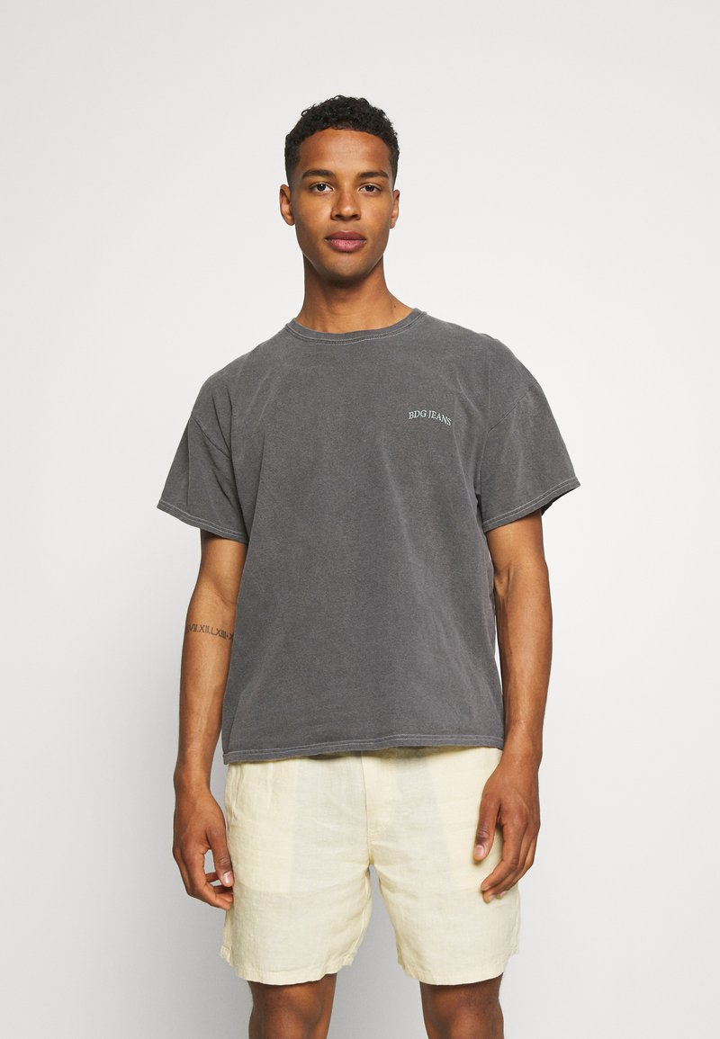 BDG Urban Outfitters - TEE UNISEX - T-shirts - washed black