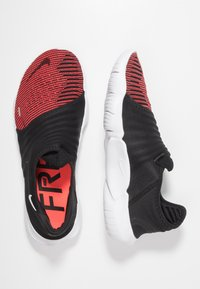 Nike Performance - FREE RN FLYKNIT 3.0 - Minimalist running shoes - black/bright crimson/white - 1