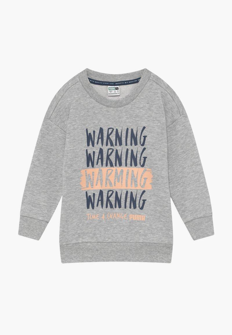 Puma - TIME FOR CHANGE CREW - Sweatshirt - light gray heather