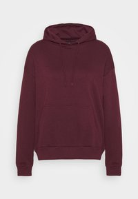Even&Odd - BASIC - Oversized hoodie with pocket - Hoodie - bordeaux - 3