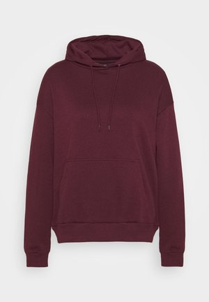 BASIC - Oversized hoodie with pocket - Mikina s kapucí - bordeaux