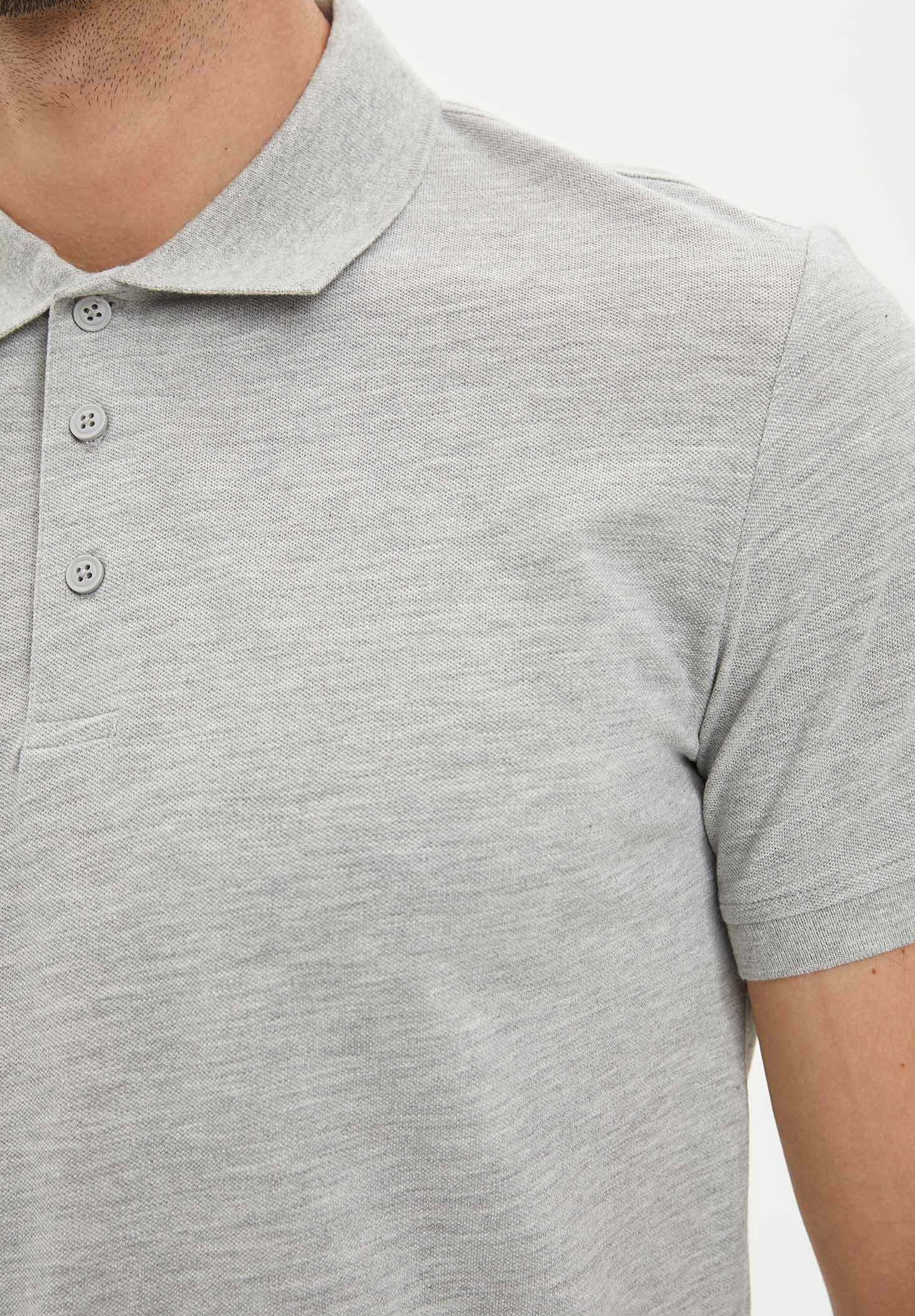 DeFacto Polo shirt - grey yFlKy
