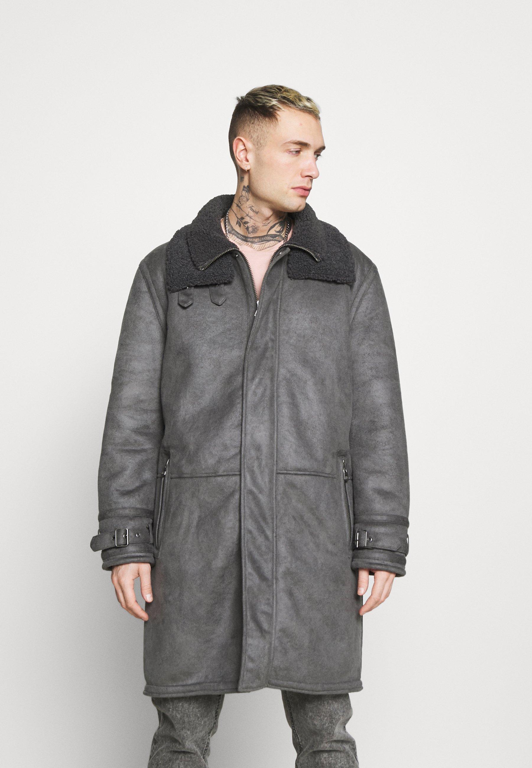 Men LONG LINE SHEARLING - Classic coat
