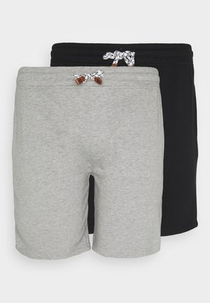 EXCLUSIVE 2 PACK - Shorts - schwarz /light grey mel