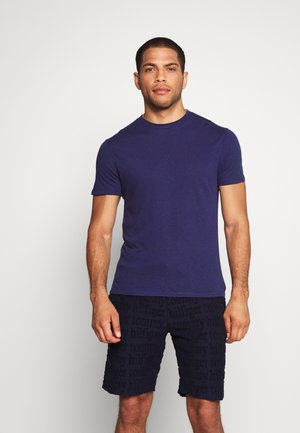 BLEND REGULAR BLOCK CREW LOUNGEWEAR - Pyjama top - navy blue