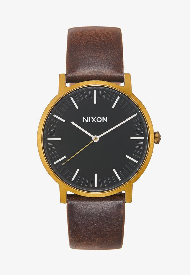 PORTER - Watch - black/brown
