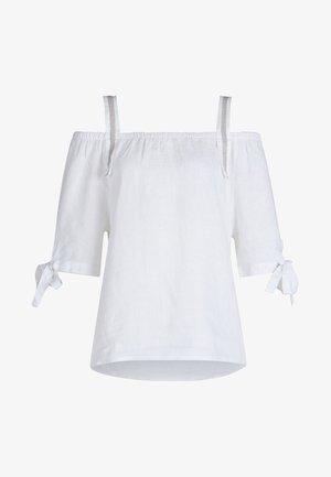MIT BREITEN TRÄGERN - Blouse - white