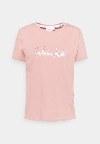 REGULAR SIGNATURE TEE - Print T-shirt - muted pink