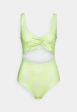KIKKI SWIMSUIT - Swimsuit - green/white