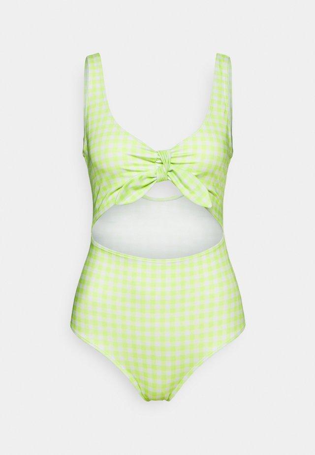 KIKKI SWIMSUIT - Uimapuku - green/white
