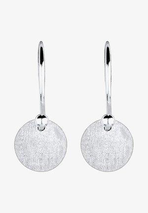 GEO RUND  - Oorbellen - silver-coloured