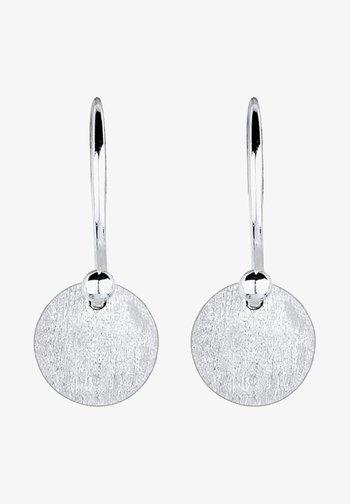 GEO RUND  - Earrings - silver-coloured