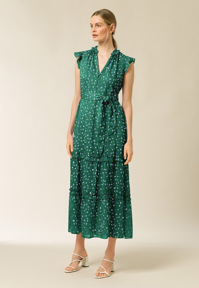 Day dress - aop - painted dot eden green