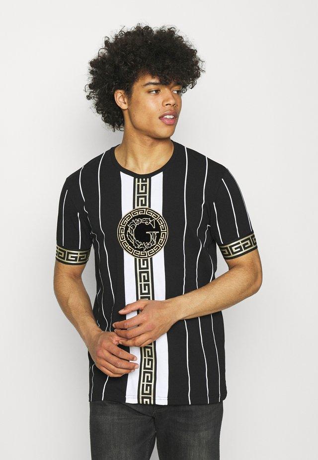 SANTAGO TEE - T-shirt imprimé - jet black