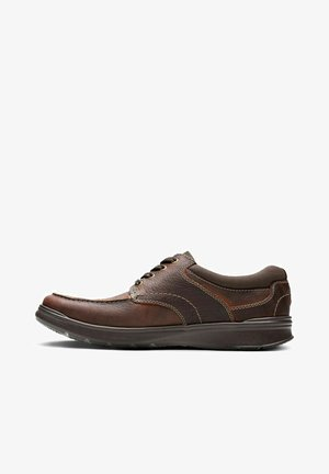 Casual lace-ups - brown oily leather