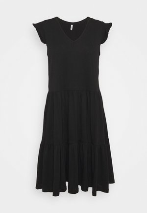 ONLMAY LIFE CAP SLEEVES FRILL DRESS - Kjole - black